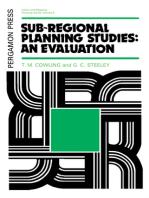 Sub-Regional Planning Studies: An Evaluation: Urban and Regional Planning Series