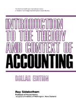Introduction to the Theory and Context of Accounting