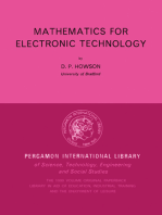 Mathematics for Electronic Technology