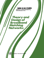 Theory and Design of Broadband Matching Networks: Applied Electricity and Electronics