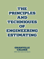 The Principles and Techniques of Engineering Estimating