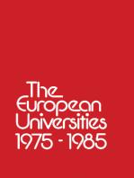 The European Universities 1975 – 1985
