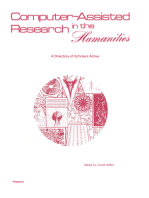 Computer–Assisted Research in the Humanities: A Directory of Scholars Active