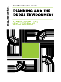 Planning and the Rural Environment: Urban and Regional Planning Series