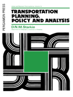 Transportation Planning, Policy and Analysis