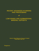 Recent Advances in Mining and Processing of Low-Grade and Submarginal Mineral Deposits