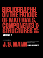 Bibliography on the Fatigue of Materials, Components and Structures: 1951-1960