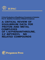 A Critical Review of Equilibrium Data for Proton- and Metal Complexes of 1,10-Phenanthroline, 2,2'-Bipyridyl and Related Compounds
