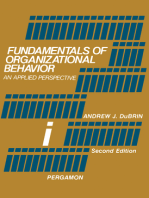 Fundamentals of Organizational Behavior: An Applied Perspective