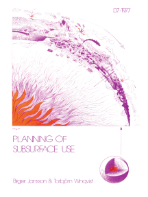 Planning of Subsurface Use