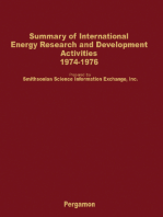 Summary of International Energy Research and Development Activities 1974-1976