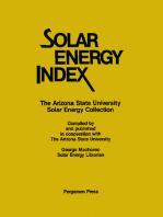 Solar Energy Index: The Arizona State University Solar Energy Collection