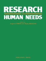 Research and Human Needs