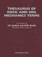 Thesaurus of Rock and Soil Mechanics Terms