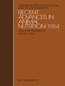 Recent Advances in Animal Nutrition—1984: Studies in the Agricultural and Food Sciences