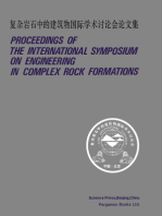 Proceedings of the International Symposium on Engineering in Complex Rock Formations