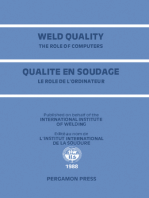 Weld Quality: The Role of Computers: Proceedings of the International Conference on Improved Weldment Control with Special Reference to Computer Technology Held in Vienna, Austria, 4–5 July 1988 under the Auspices of the International Institute of Welding