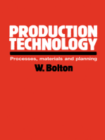 Production Technology: Processes, Materials and Planning