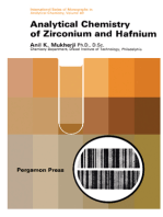 Analytical Chemistry of Zirconium and Hafnium
