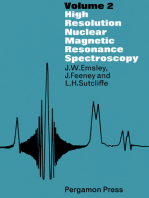 High Resolution Nuclear Magnetic Resonance Spectroscopy