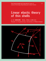 Linear Elastic Theory of Thin Shells: The Commonwealth and International Library: Structures and Solid Body Mechanics Division
