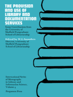The Provision and Use of Library and Documentation Services