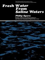 Fresh Water from Saline Waters