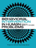 Behavioral Intervention in Human Problems