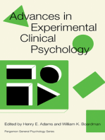 Advances in Experimental Clinical Psychology