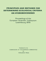 Principles and Methods for Determining Ecological Criteria on Hydrobiocenoses: Proceedings of the European Scientific Colloquium, Luxembourg, November 1975