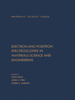 Electron and Positron Spectroscopies in Materials Science and Engineering