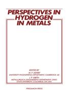 Perspectives in Hydrogen in Metals