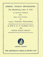 Andreas Vesalius Bruxellensis: The Bloodletting Letter of 1539: An Annotated Translation and Study of the Evolution of Vesalius's Scientific Development