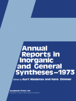 Annual Reports in Inorganic and General Syntheses-1973