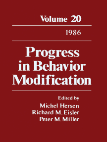 Progress in Behavior Modification: Volume 20