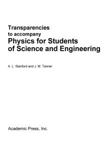 Physics for Students of Science and Engineering: Transparencies to Accompany