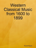 Western Classical Music from 1600 to 1899