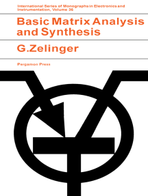 Basic Matrix Analysis and Synthesis: With Applications to Electronic Engineering
