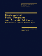 Experimental Social Programs and Analytic Methods