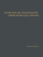 Nonlinear Stochastic Operator Equations