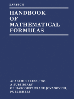Handbook of Mathematical Formulas