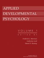 Applied Developmental Psychology: Volume 1
