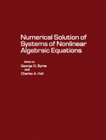 Numerical Solution of Systems of Nonlinear Algebraic Equations