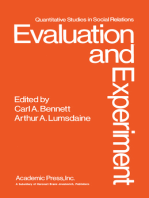 Evaluation and Experiment: Some Critical Issues in Assessing Social Programs