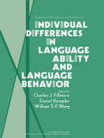 Individual Differences in Language Ability and Language Behavior