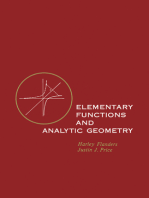 Elementary Functions and Analytic Geometry