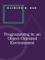 Programming in an Object-Oriented Environment