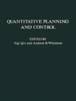 Quantitative Planning and Control: Essays in Honor of William Wager Cooper on the Occasion of His 65th Birthday