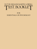 Test Booklet for Essentials of Psychology