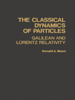 The Classical Dynamics of Particles: Galilean and Lorentz Relativity